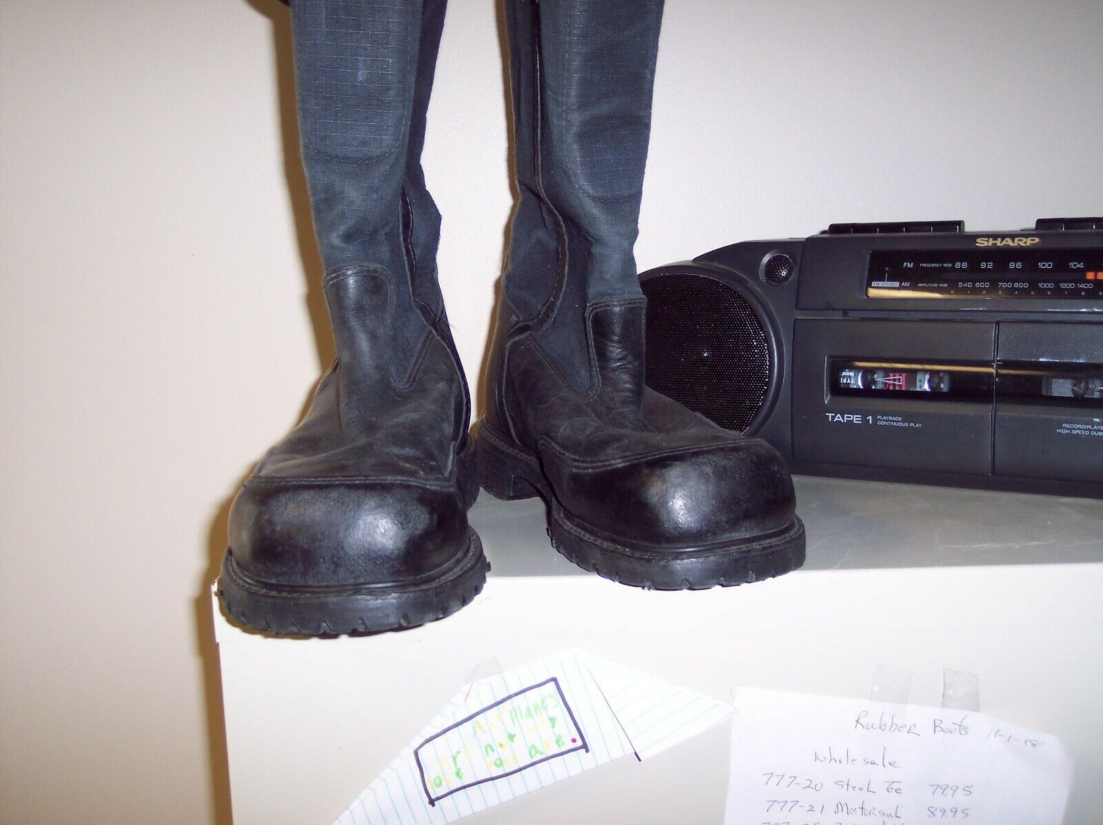 PRO-WARRINGTON STYLE 4132 FIREFIGHTER BOOTS 13EEE  FREE SHIPPING