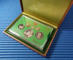 1979-Singapore-Proof-Coin-Set-1-Stylised-Lion-Proof-Coin-amp-10-Silver-Proof