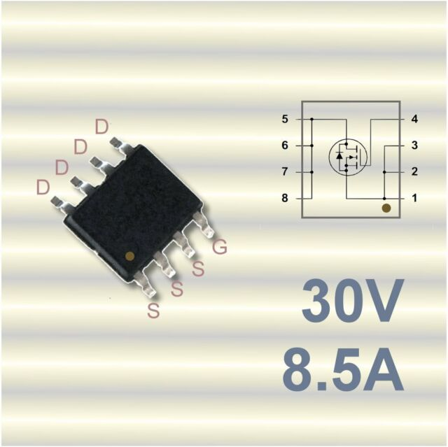 6 x FDS8884 Leistungs-MOSFET N-Channel 30V 8,5A SO8