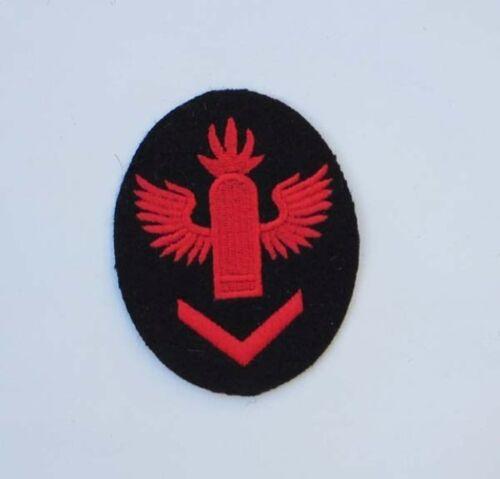 WW2 German Kriegsmarine A.A Gun Leader Badge On Dark Blue Felt