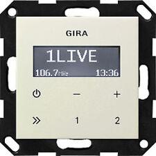 228401 Gira Unterputz Radio RDS Cremeweiß glänzend