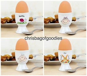 Personalised novelty egg cups cup gifts for easter birthday kids image is loading personalised novelty egg cups cup gifts for easter negle Gallery