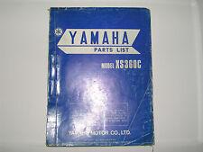 Yamaha    XS 360 C    XS360C    parts list  book manual             (#22)