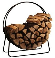 Round Fireplace Firewood Log Holder Hoop Rack - NIB