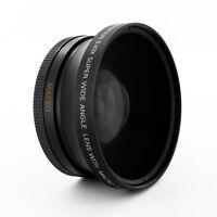 0.43x 72mm Wide Angle Fisheye Lens W/ Macro For Panasonic Hpx170 Hmc150 Dvx100