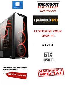 Rapido-de-cuatro-nucleos-i7-GTX-1050-TI-para-juegos-de-PC-16GB-Ram-2TB-Windows-10-Computadora-De