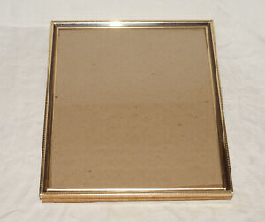 Vintage-Embossed-Metal-Photo-Picture-Frame-8-034-x-10-034-Photo-Burgundy-Inset