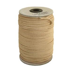 100m-Baumwollband-natur-2-mm-rund-poliert-Rolle-Spule
