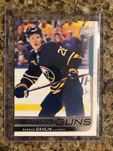Rasmus-Dahlin-2018-19-Upper-Deck-Young-Guns-Rookie-RC-201-Buffalo-Sabres
