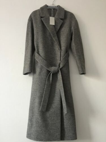 With Ladies Cos Wool Size Tag New Coat Belted Grey 8 qqSA4xUw