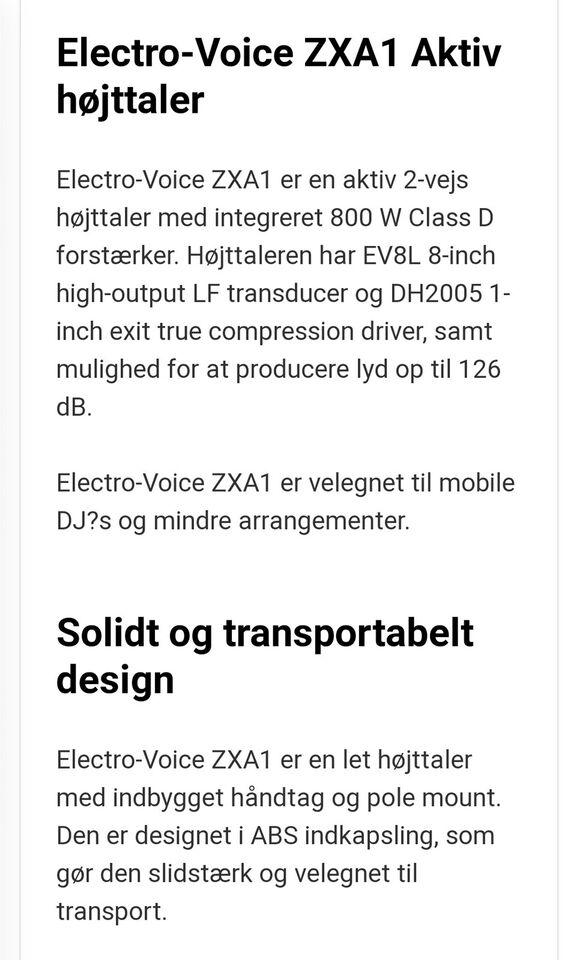 EV Aktiv højtaler , Electro Voice EV zxa1