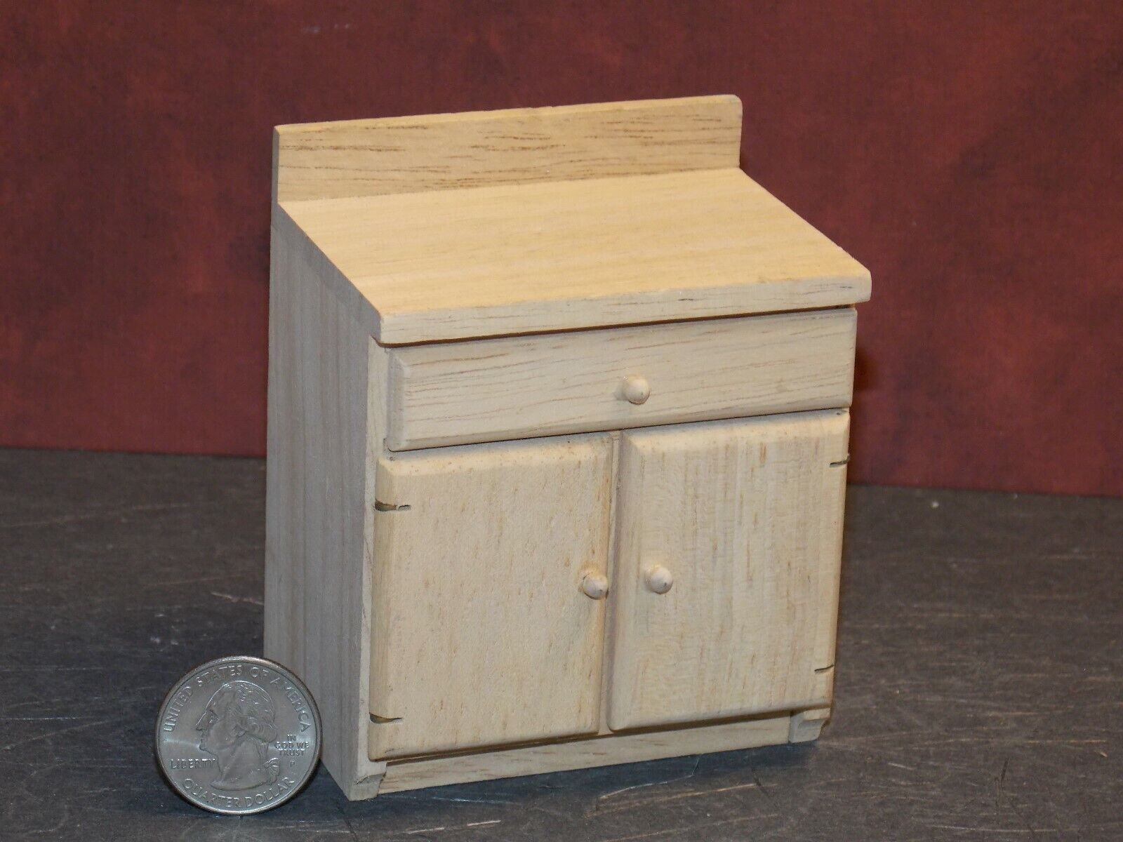 1:12 Dolls House Miniatures Furniture Wooden Cabinet Dresser Table D lilk NEW S8W6