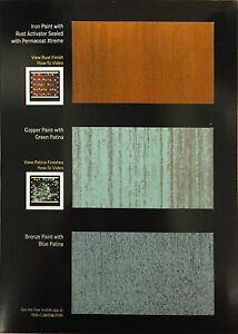 Modern Masters Metal Effects Paints 6oz Iron Copper Bronze