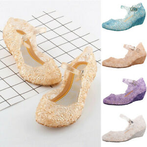 Toddler-Child-Kids-Baby-Girl-Wedge-Cosplay-Party-Single-Princess-Shoes-Sandals-P