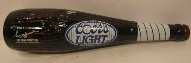 Coors Light Reggie Jackson 500 Home Run Club Baseball Bat Beer Bottle 1 Pint For Sale Online Ebay