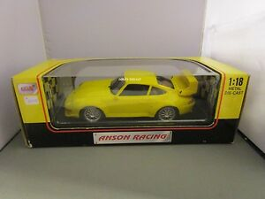 ANSON 1/18 YELLOW PORSCHE 911 GT2 USED IN BOX *READ* VERY NICE