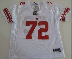 9f4447455 Reebok Women s NFL Jersey Giants Osi Umenyiora White sz L