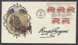 Roy-Rogers-Western-Actor-King-of-Cowboys-signed-Stagecoach-1890s-FDC