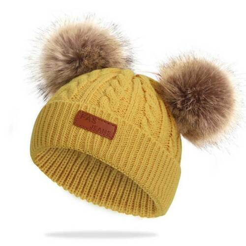 Newborn Baby Kids Pom Hat Winter Warm Crochet Knit Bobble Boys Girls Beanie Hat#