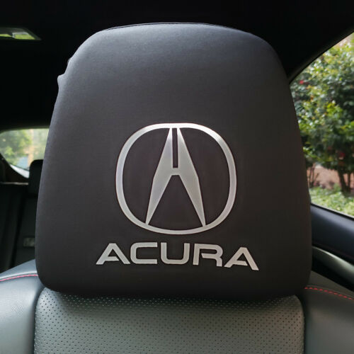 2pcs Headrest Covers Spandex Universal For Acura Cars SUVs Pickups