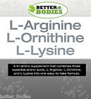 L-Arginine L-Ornithine L-Lysine Tablets Better Bodies Increase Lean Muscle Mass