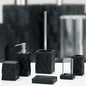 seifenspender seifenschale wc b rste becher wattedose garnitur bad set klob rste ebay. Black Bedroom Furniture Sets. Home Design Ideas