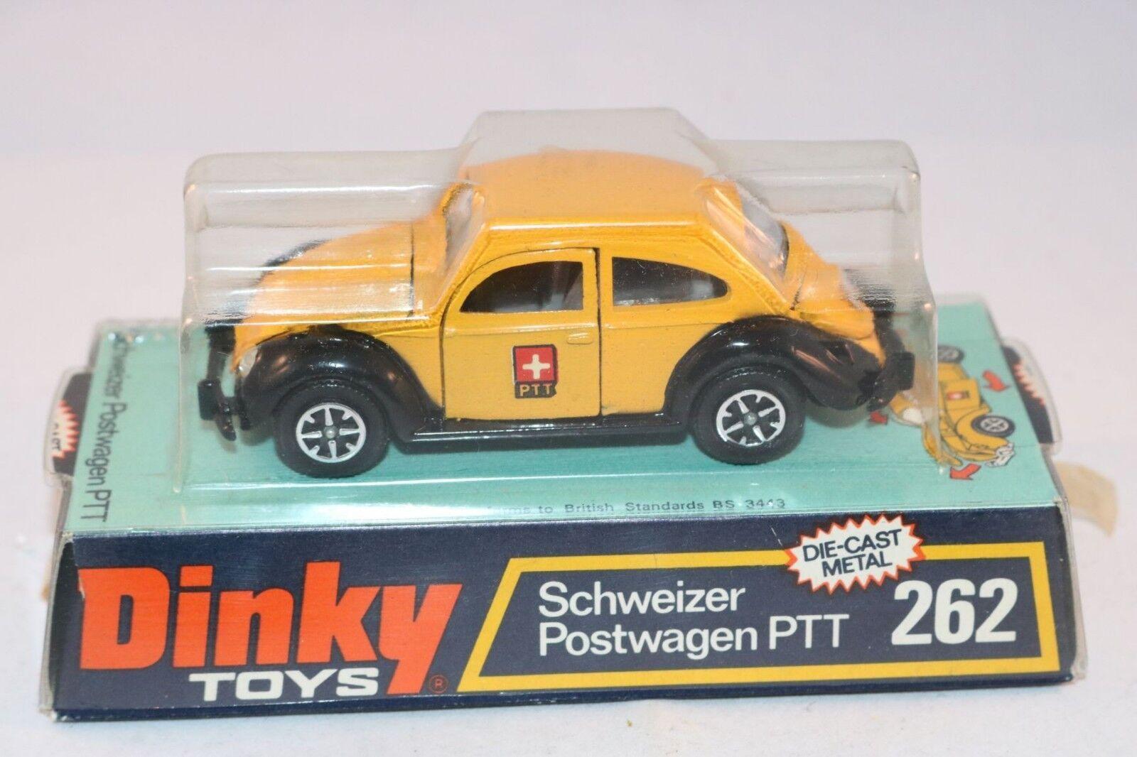 grandes ahorros Dinky Juguetes 262 Schweizer Postwagen PTT PTT PTT MIB and mint box all original condition  promociones