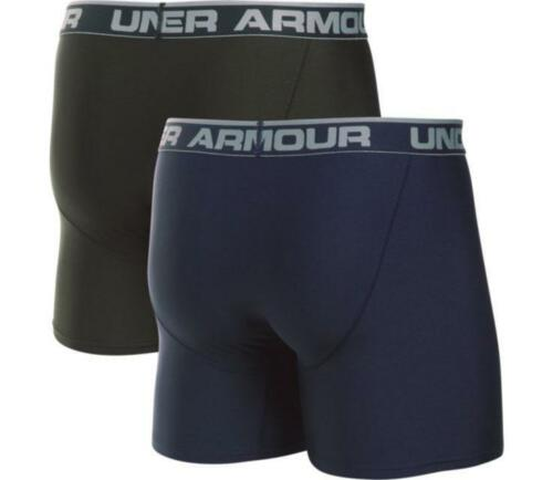 Under Armour UA BoxerJock 2-Pack Navy Blue//Artillery Green Boxer Briefs Mens