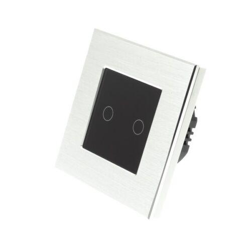 I Lumos argent cadre en aluminium Touch Wifi//4 G Remote ON//OFF DEL lumière Commutateurs
