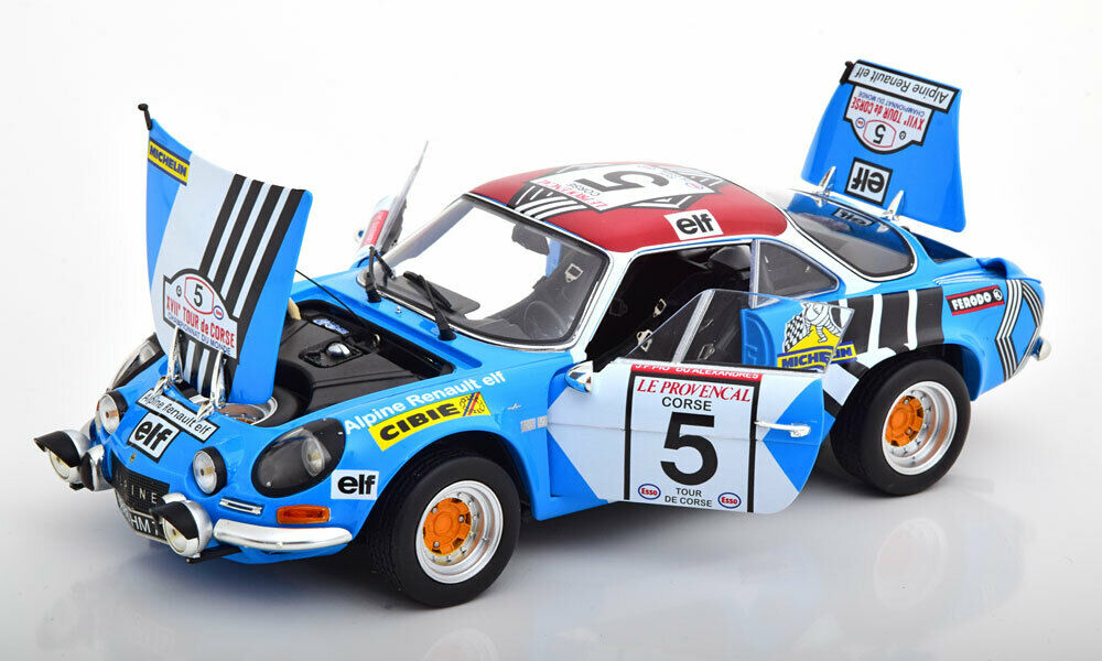 presa di marca Kyosho Renault Alpine A110 Tour de de de Corse 1973 Piot de Alexeris  5 1 18 nuovo   alta quaità