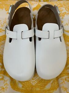 ce8ff6b3627 Birkenstock Boston Women s Clogs White Leather Size 38 L7 Germany ...