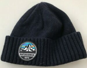 164e723eeae2d Patagonia Brodeo Beanie Fitz Roy Scope Navy Blue Cap Hat adult skull ...