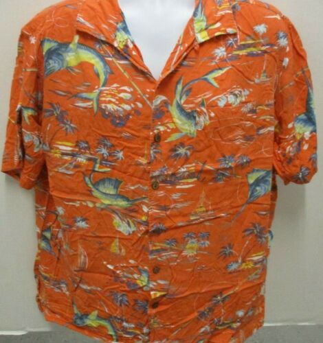 Polo by Ralph Lauren Hawaiian Shirt, Orange with M