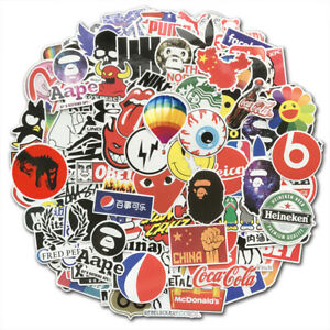 Lot-100-Random-Vinyl-Laptop-Skateboard-Stickers-Bomb-Luggage-Decals-Dope-Sticker