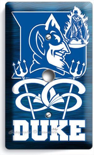 DUKE UNIVERSITY BLUE DEVILS BASKETBALL TEAM LIGHT DIMMER CABLE WALL PLATE COVER
