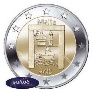 Piece-de-2-euros-commemorative-MALTE-2018-Heritage-Culturel-UNC-300-000-ex