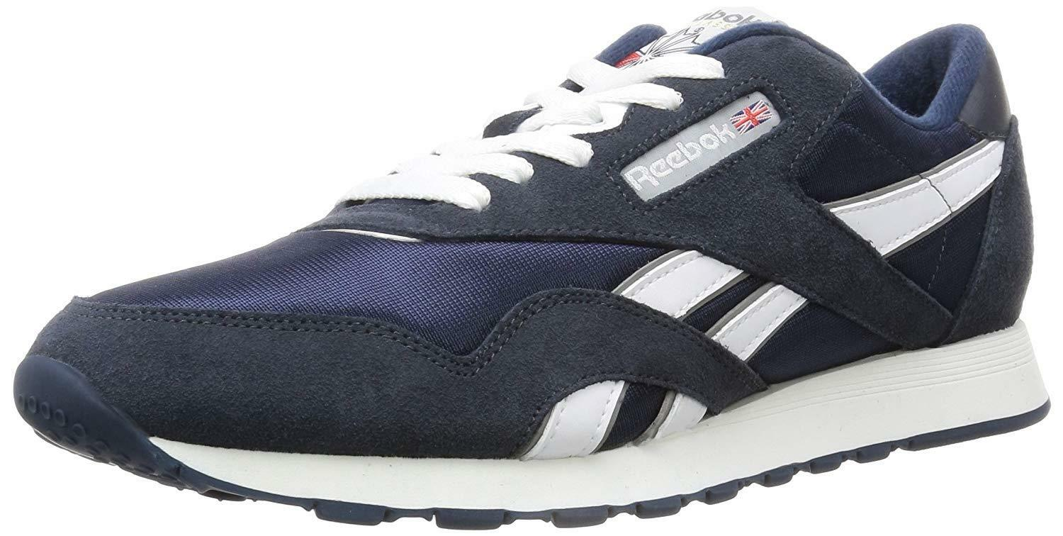 2ce8be817e42 Reebok Classic Nylon 39749 Navy Platinum Mens US Size 11 UK 10 for ...