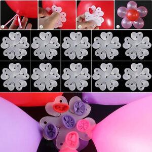 UK-10Pcs-Flower-Shape-Balloon-Clip-Tie-Holder-Birthday-Wedding-Party-Decor-Cool