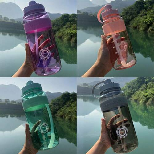 1//2L Large Sport Gym Training Big Drink Water Bottle Cap Kettle with Straw kasd