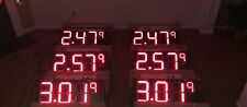 """6 PCS 12"""" LED GAS PRICE SIGNS RED COLOR"""