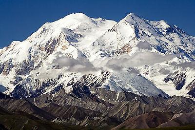 Framed Print - Mount McKinley Alaska (Picture Poster Snow Ice Mountain Art)