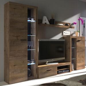 Praktische Und Elegante Wohnwand Rosco Schrankwand Farbauswahl Matt