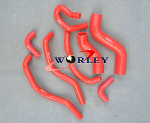 Red-for-TOYOTA-Hilux-KUN26R-SR-amp-SR5-3-0L-2005-2014-Silicone-radiator-hose-Kit