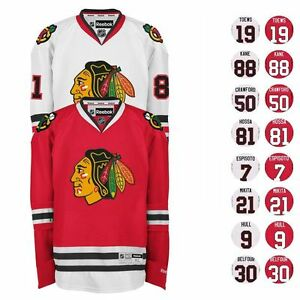 2016-17-Chicago-Blackhawks-REEBOK-NHL-Premier-Player-Jersey-Collection-Men-039-s