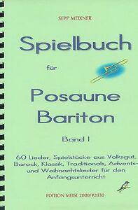 Spielbuch-fuer-Posaune-Bariton-Euphonium-Noten-Anfaengerliteratur-Lieder