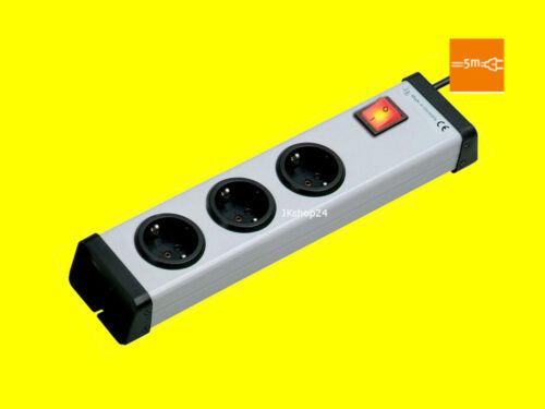 Mehrfachsteckdosen-Leiste mit Schalter+5m-Anschlusskabel 250V|16A 0201x00032305