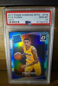 2017 -18 Kyle Kuzma Rookie PSA 10 Panini Optic HOLO Silver RC Lakers Gem Mint