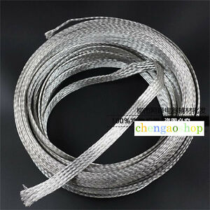 Details about 2mm-20mm Flat Braided Tinned Copper Wire tin plating copper  shield tube #Q2D ZX