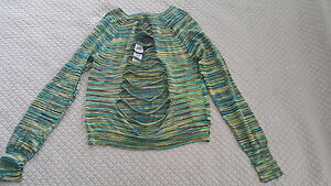 BCBG-Multicolor-Melange-Adalyn-Lightweight-Sweater-Summer-beach-Small-S-sold-out