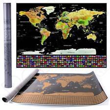 Travel tracker big scratch off world map poster with country flags travel tracker big scratch off world map poster with country flags scratch map gumiabroncs Images